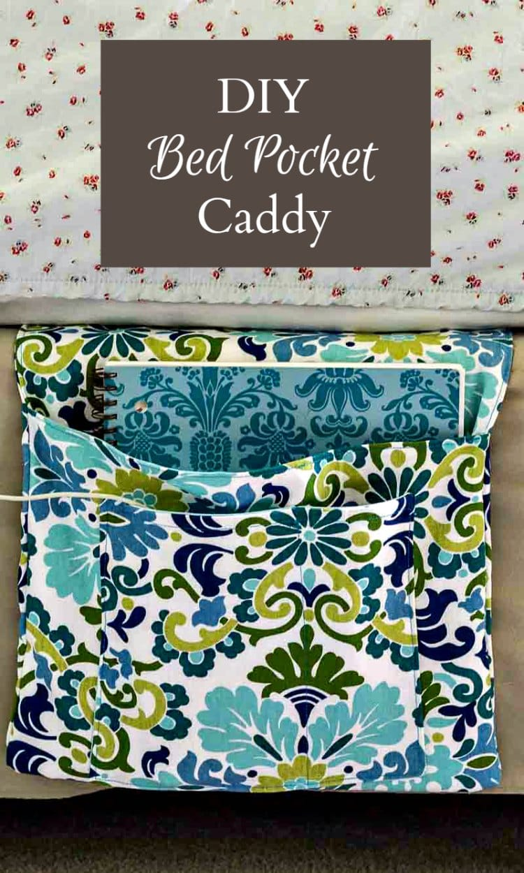 This diy bed pocket caddy is easy to make and is a great gift for a collage student who is short on room in the dorm. A step by step guide shows you how.