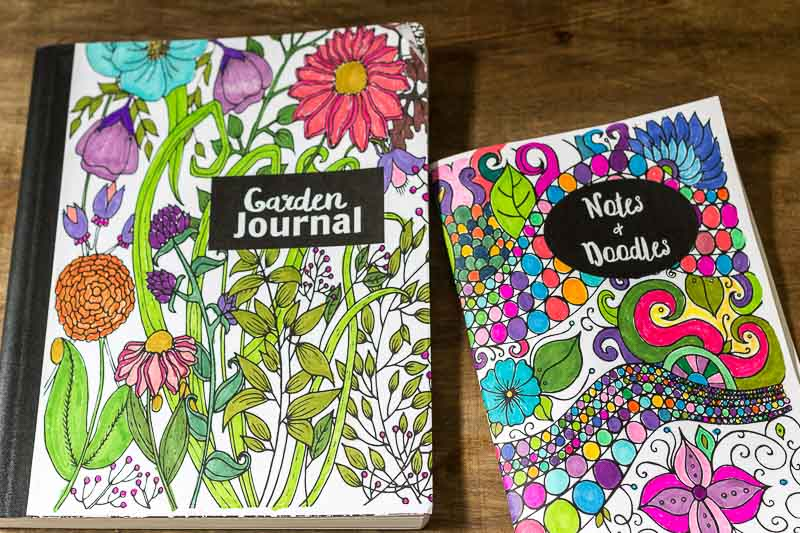 DIY Coloring Page Journals
