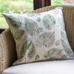 DIY Leaf Printed Drop Cloth Pillow Covers