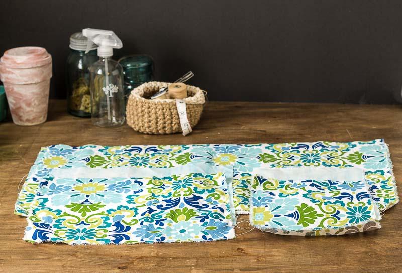Fabric Pieces - DIY Bed Pocket Caddy