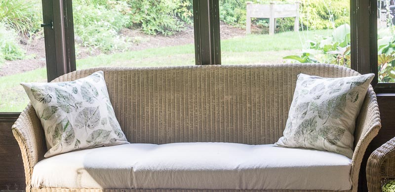 Easy Drop Cloth Cushion Covers