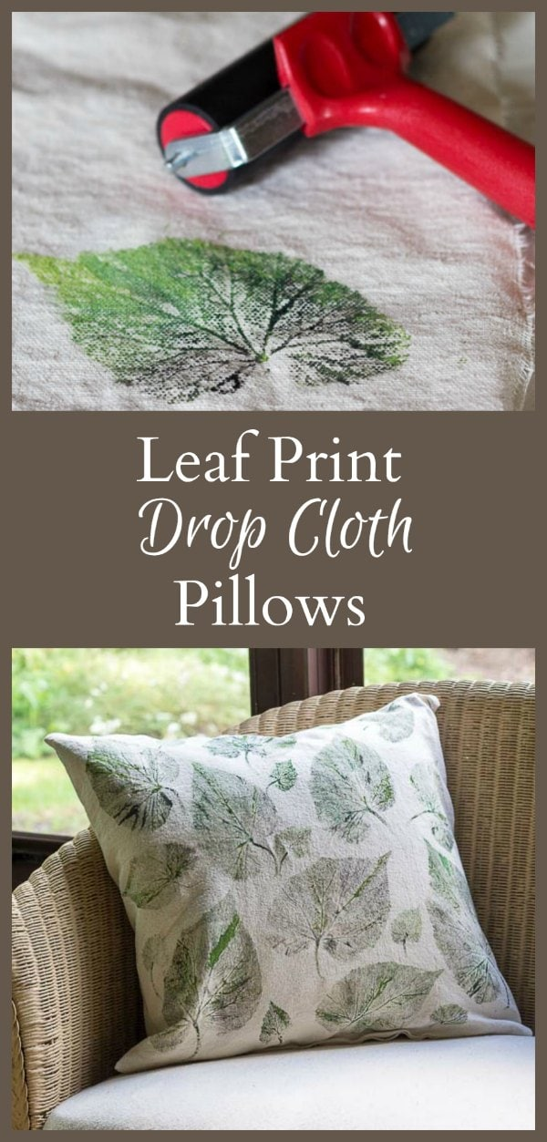This is a tutorial for making leaf print drop cloth pillows. It's a great way to allow the beauty of nature help you create a work of art.