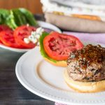 Plated Burger with Fig Jam - Blue Cheese Fig Burger