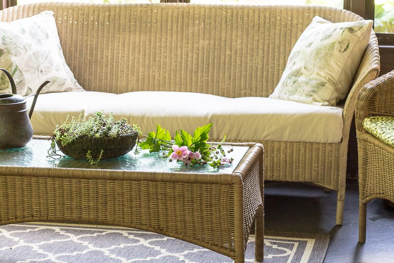 Porch Reveal - Coffee Table with couch