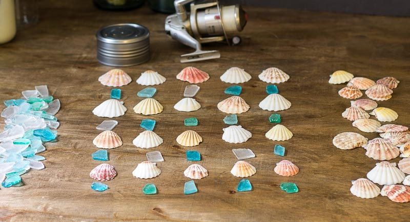 Seashell & Seaglass Windchime Materials