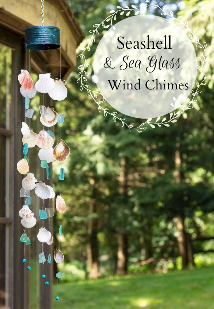 Seashell & Beach Glass Windchime Tutorial