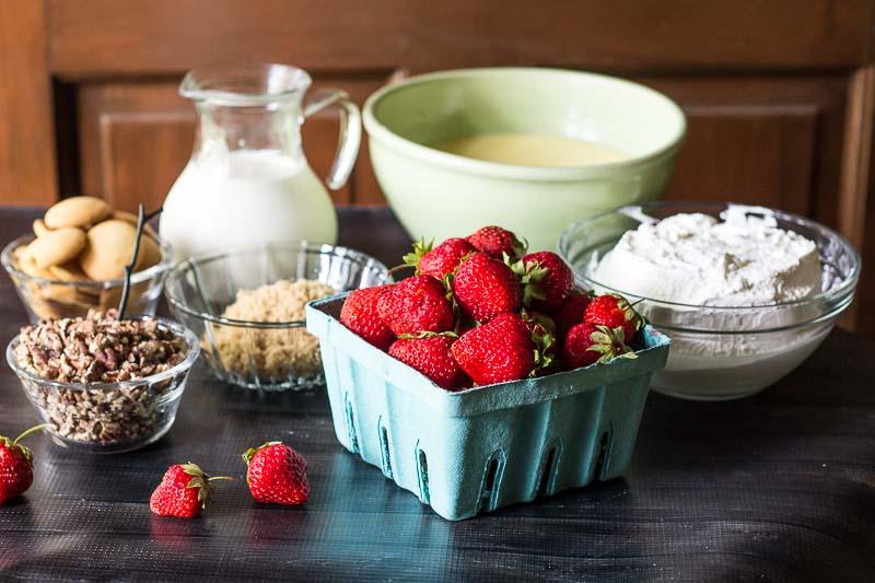Strawberry-Praline-Trifle-Ingredients