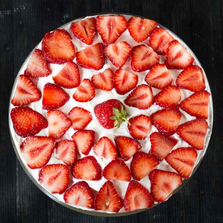 Strawberry Praline Trifle