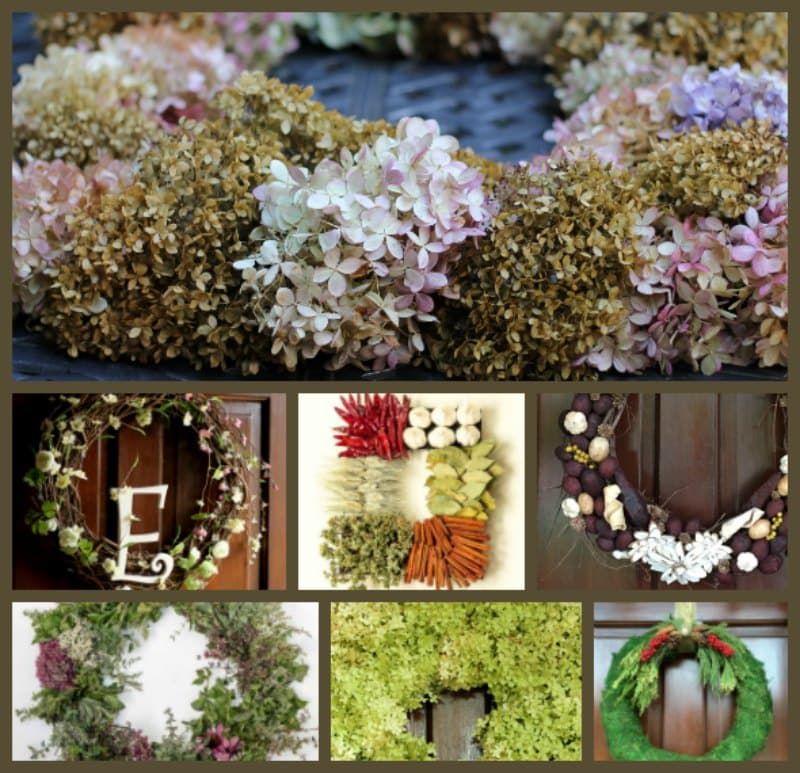 10 Easy Wreaths collage