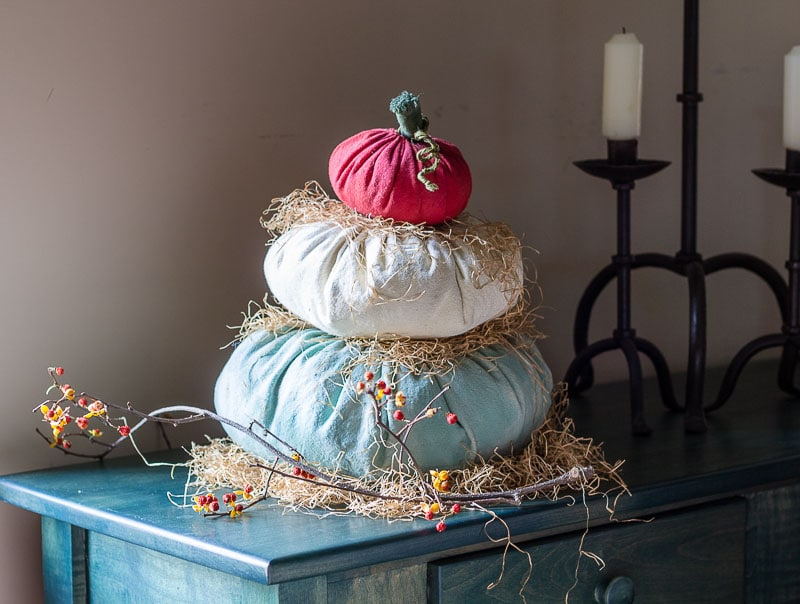Cinderella Fabric Pumpkin Stack