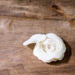 Felt Flower Wreath Tutorial - back of rosette