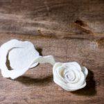 Felt Flower Wreath Tutorial - felt rosette almost complete