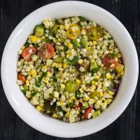 Grilled Corn Avocado Salad Recipe