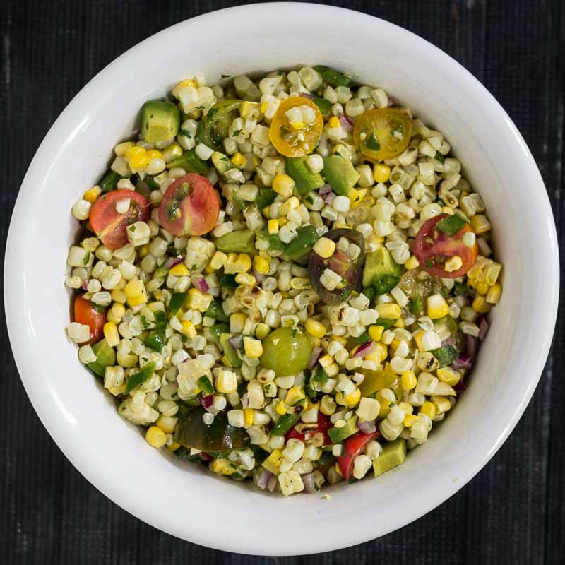 Grilled Corn and Avocado Salad Recipe