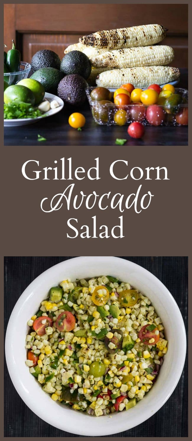 This recipe for grilled corn and avocado salad is perfect to take to your next gathering. Use as a great side dish or add some protein for a complete meal.