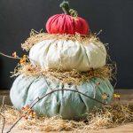 Heirloom Cinderella Fabric Pumpkin Stack