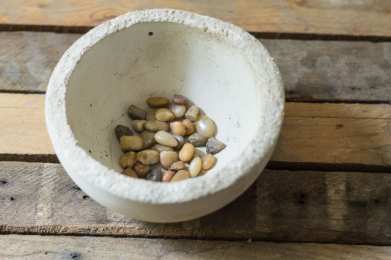 Makers Mix Planters - Planter with pebbles