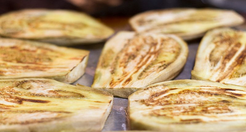 Moussaka Recipe - Eggplant slices