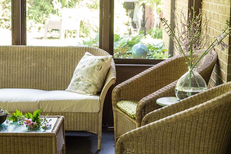 Porch Reveal - couch with side chairs