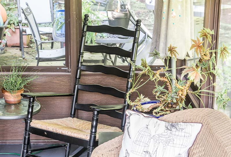 Porch Reveal - rocking chair