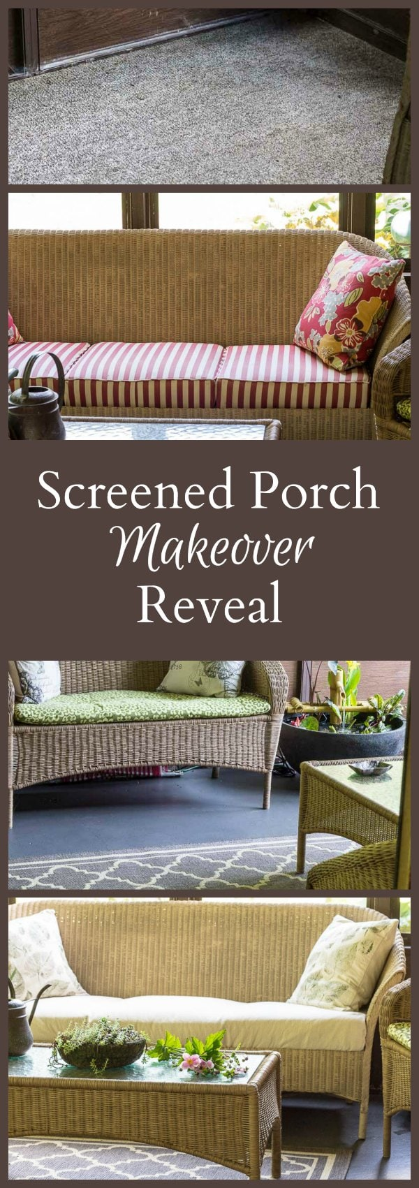 Screened Porch Makeover Reveal