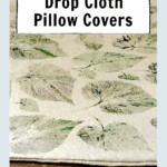 Leaf printed pillow cover.