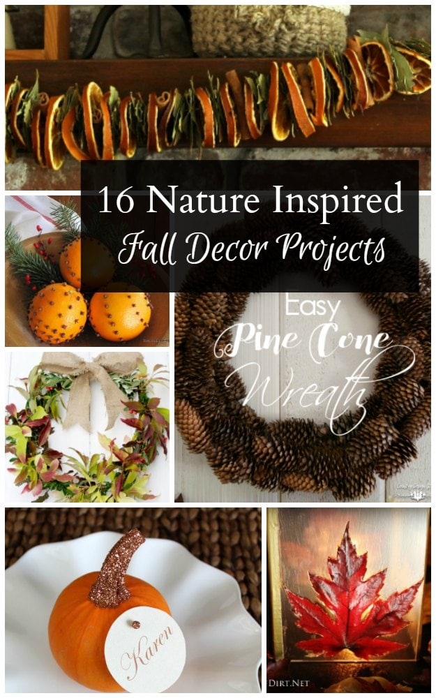 Nature inspired fall decor projects