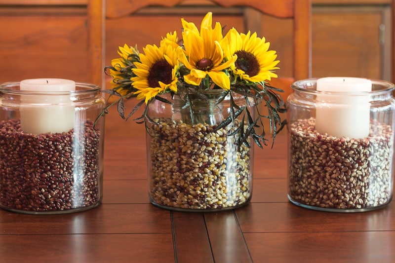 Easy Fall Decorating with Apothecary Jars