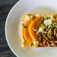 Butternut Squash Tart with Tomatoes and Feta