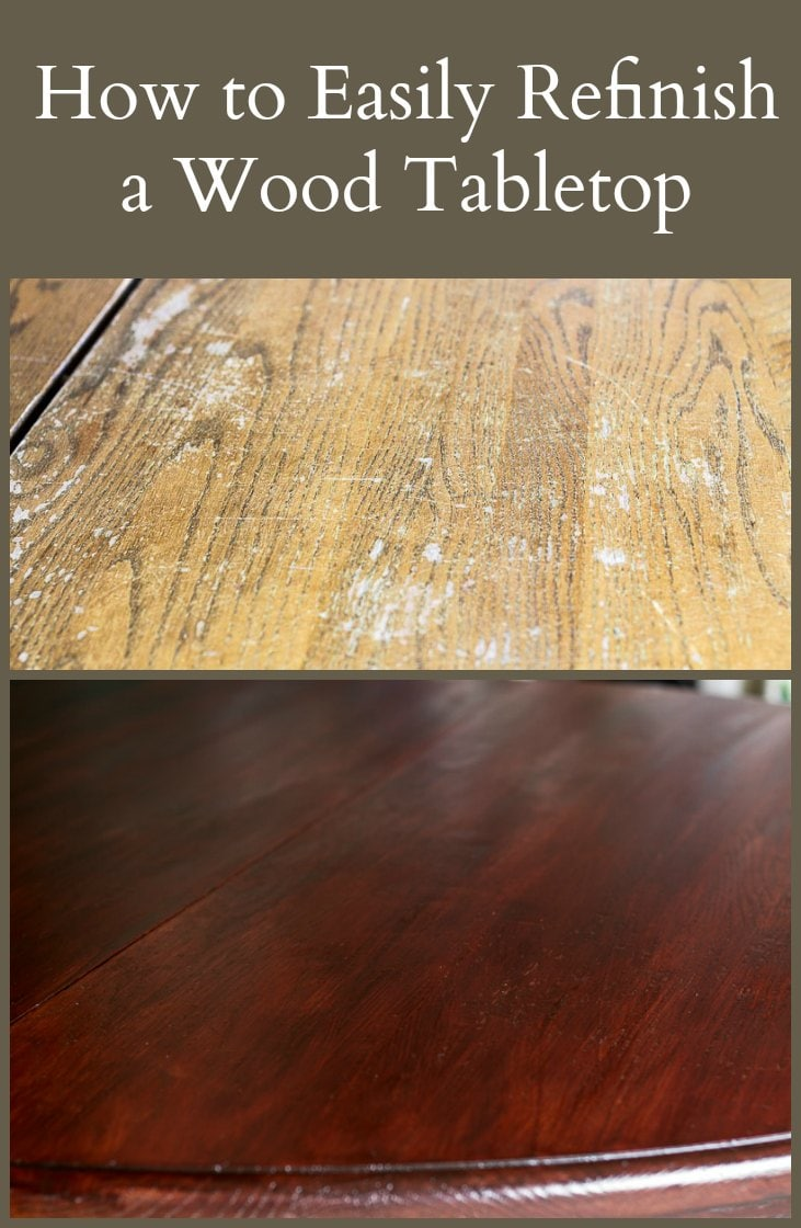 Learn how easy it is to refinish a wood tabletop with just a few materials, transforming it from drab to fab in no time.