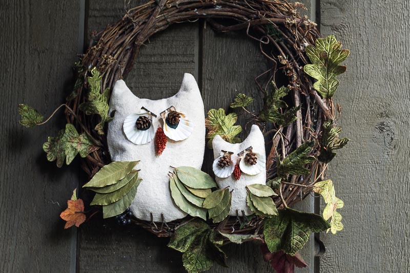 Nature Inspired Fall Owl Wreath Tutorial