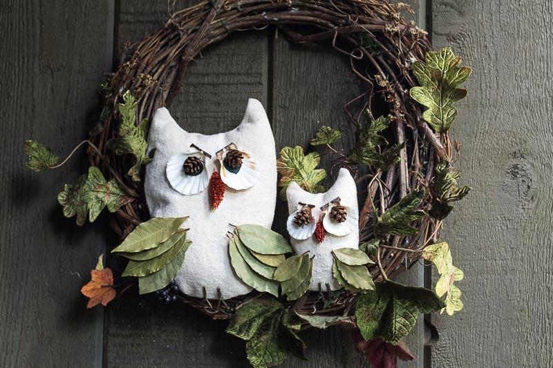 Nature Inspired Fall Owl Wreath Tutorial