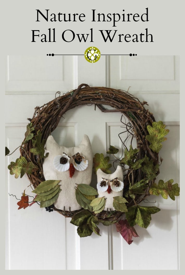This nature inspired fall owl wreath tutorial is easy to create. You may already have the materials to crafts this fun project to add to your home decor.