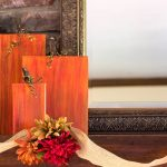 rustic-wooden-pumpkins-on-mantel