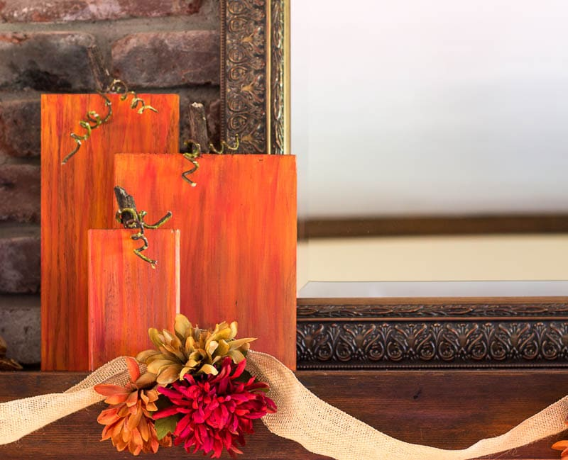 Rustic wooden pumpkins are easy way to refresh your fall decor buy using with scraps of wood, and other times you have on hand.