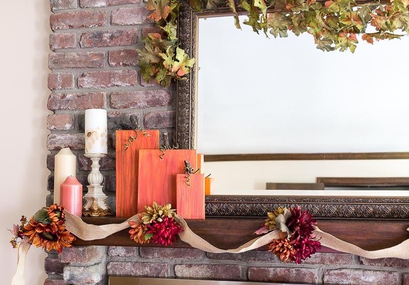rustic-wooden-pumpkins-on-fall-mantel-2016