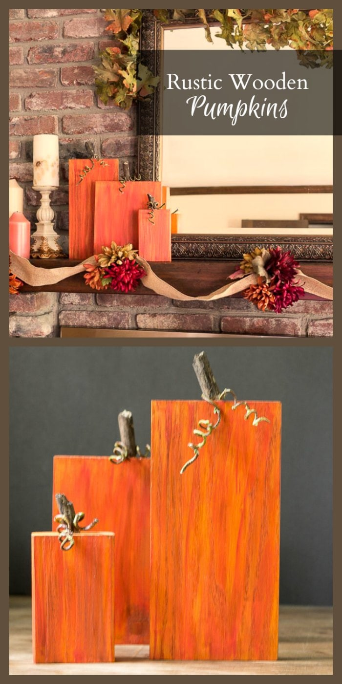 A fast and easy way to refresh your fall decor buy making these rustic wooden pumpkins with scraps of wood, and other times you have on hand.
