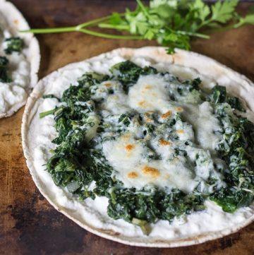 Spinach & Ricotta Pizza Recipe