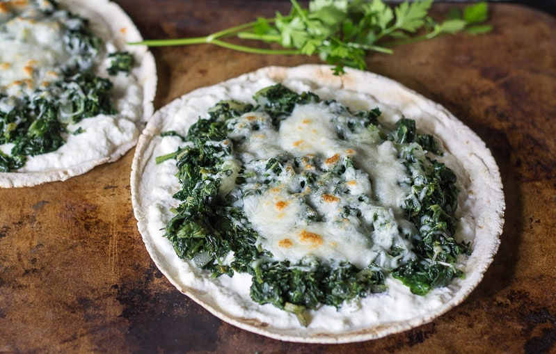Spinach & Ricotta Pizza Recipe
