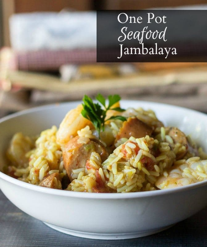 Enjoy making this one pot seafood jambalaya recipe We serve this for our large vacation dinner and also when we are having guest over to watch football.