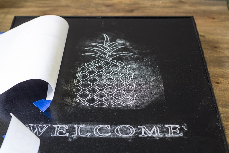 pineapple-welcome-sign-chaulk-transfer-under-prints
