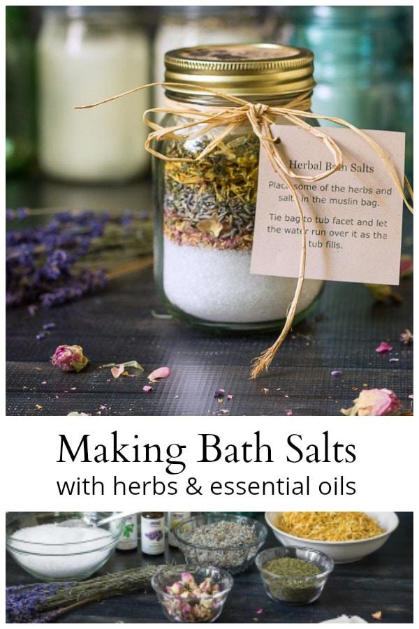 bath salt collage