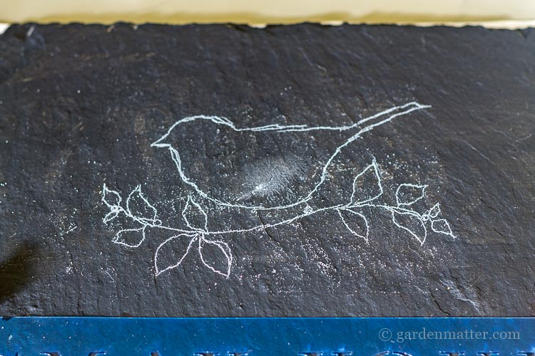 chalk-traced-bird-image