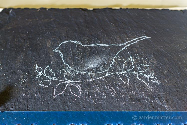 chalk-traced-bird-image