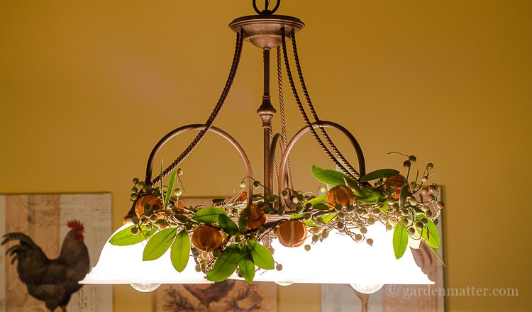 citrus-ornaments-on-garland-with-lights-on