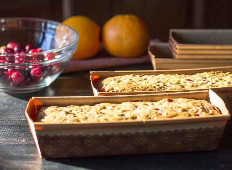 cranberry orange quick bread loaves