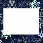 WInter Dark Blue Invitation Template