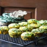 Easy Breakfast Egg Muffins with Spinach and Parmesan