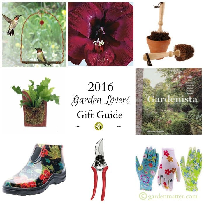 A Garden Lovers Gift Guide for 2016 Holiday Shopping