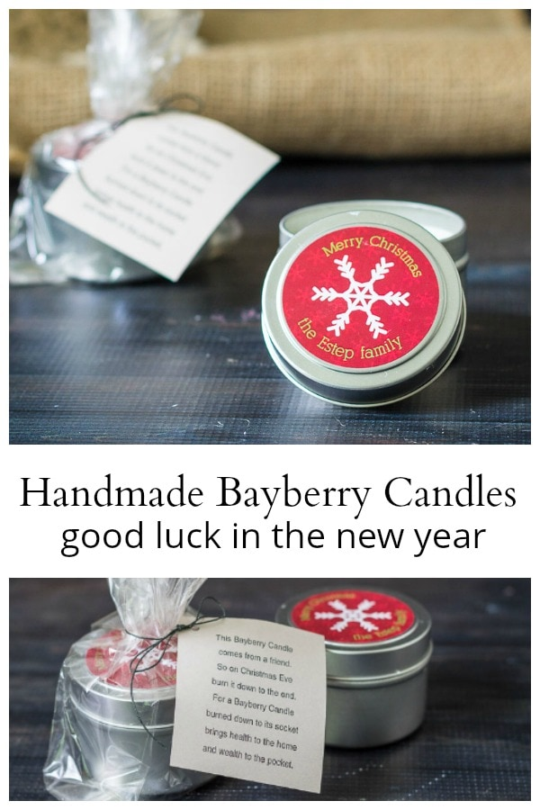 Handmade bayberry candles for good luck